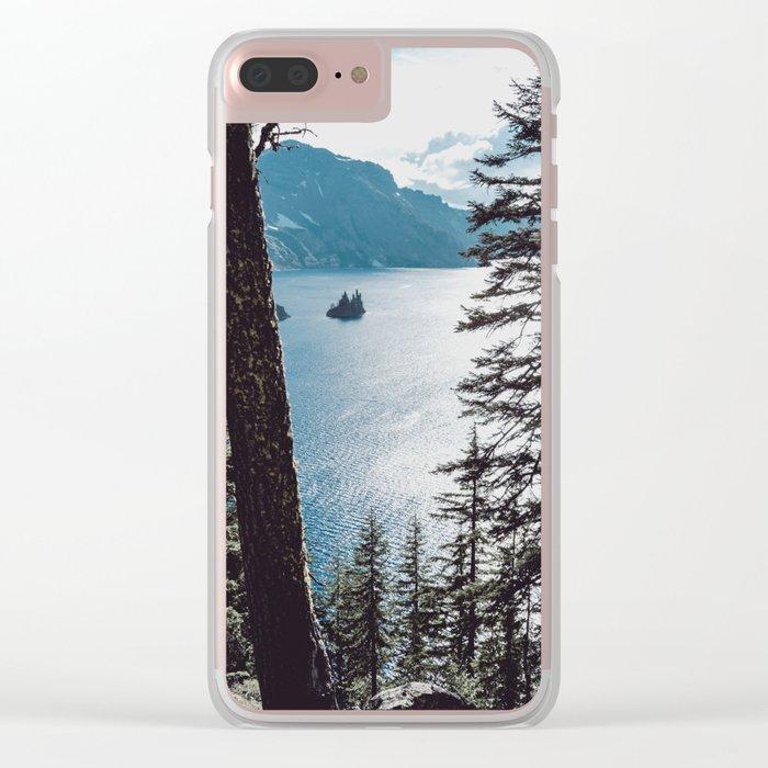 Mountain Lake Retreat Clear iPhone Case