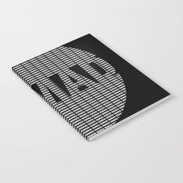 NOMAD - Text Logo (white on black) Notebook