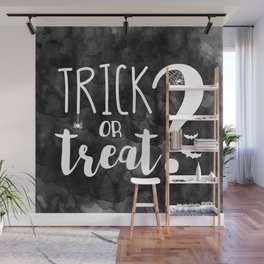 Trick Or Treat? | Black And White Wall Mural