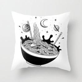 Spacey Ramen Throw Pillow