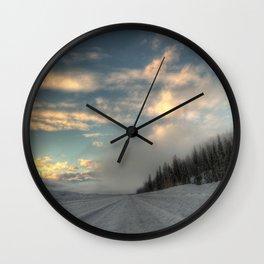 Fog Highway Wall Clock
