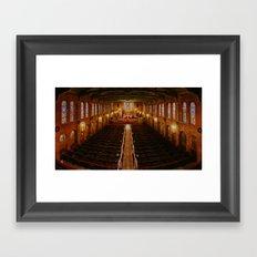 Old Warm Church Framed Art Print