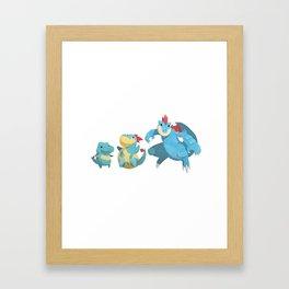 Watery Family #2 Framed Art Print