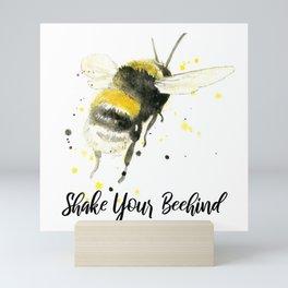 Shake Your Beehind - Punny Bee Mini Art Print