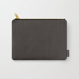 Bitter Brown Solid Color Block Carry-All Pouch