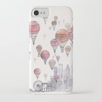 santa monica iPhone & iPod Cases featuring Voyages Over Santa Monica by David Fleck
