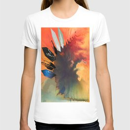 Colour Puddle with Polygon  T-shirt