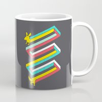 physics Mugs featuring Physics doesn't apply to weiner dogs by Eleanor Lutz