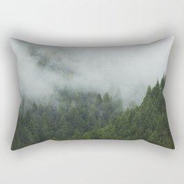 Tree Fog Rectangular Pillow