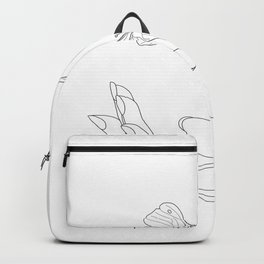 Butterflies on the Palm of the Hand Backpack