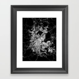 mexico map Framed Art Print