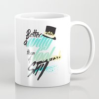 shakespeare Mugs featuring Shakespeare quote by feat.ciren