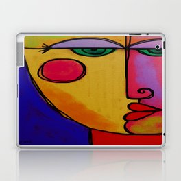 Colorful Abstract Face Digital Painting Laptop & iPad Skin