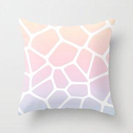 Rainbow Giraffe Throw Pillow