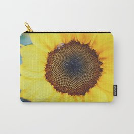 Macro Sunflower & Bee Carry-All Pouch