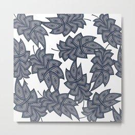 Denim leaves 2+ Metal Print