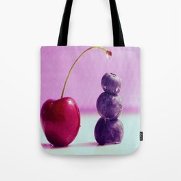 Food Design fresh Cherry and Bluebeeries Tote Bag