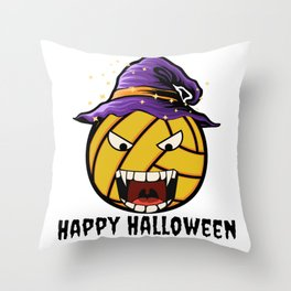 Happy Halloween Water Polo Throw Pillow