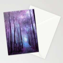Fantasy Forest Path Muted Violet Stationery Cards
