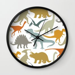Dinosaur Friends Wall Clock
