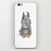 lesbian iPhone & iPod Skins featuring lesbian witches by ElenaM