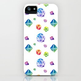 Watercolor Dice iPhone Case