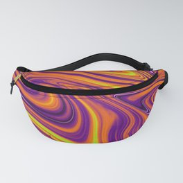 Orange Liquid Fanny Pack