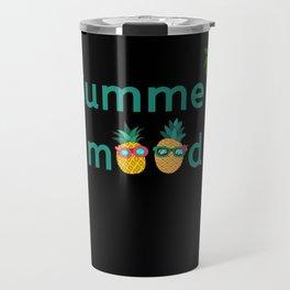 Summer Mood Pineapple Palm Trees Travel Mug