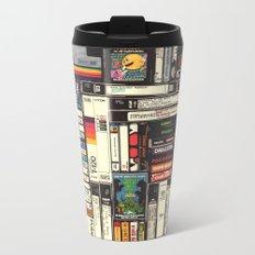Cassettes, VHS & Atari Metal Travel Mug