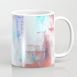 Colfax: an interesting, vibrant, abstract mixed media piece in a variety of colors Coffee Mug