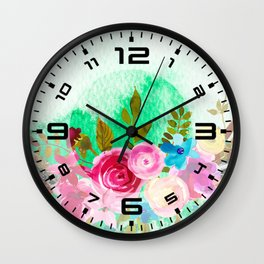 Flowers bouquet #41 Wall Clock