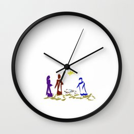 A King is Born in Bethlehem DP150903b Wall Clock
