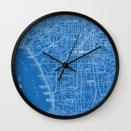 Los Angeles Street Map Wall Clock