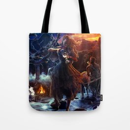 XIV. Temperance Tarot Card Illustration (Color) Tote Bag
