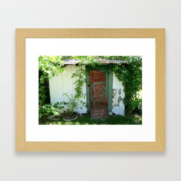Old Shed in Texas Framed Art Print