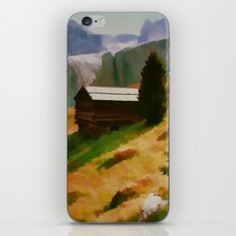 Italy Dolomite Mountains Travel Poster Vintage Style iPhone Skin