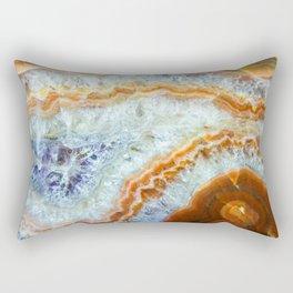 Crystalized Purple & Clear Quartz Slab with Orange Rust Rectangular Pillow
