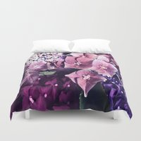 hydrangea Duvet Covers featuring Hydrangea  by Truly Juel