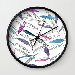 You had me at pink n' aqua Wall Clock
