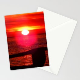 Sun Melts into the Sea Stationery Cards