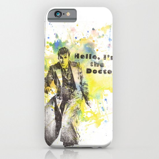 Doctor Who 10th Doctor David Tennant iPhone & iPod Case