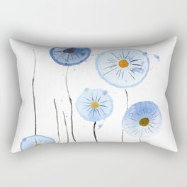 blue abstract dandelion 2 Rectangular Pillow