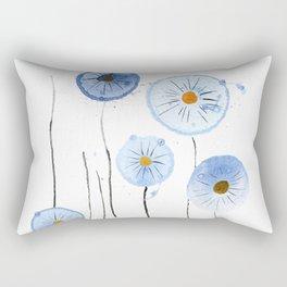 blue abstract dandelion 2 Rectangular Pillow