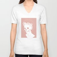 cycle V-neck T-shirts featuring Cycle by bwuhbwuh