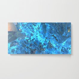 Deep Blue Starfield Metal Print