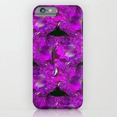 Purple Ornate Leaf Fractal iPhone 6s Slim Case