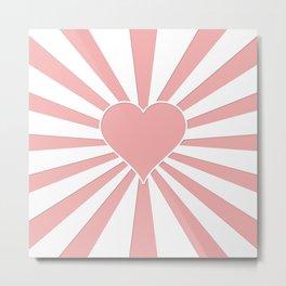 Blush Pink Valentine Sweetheart Love Explosion Metal Print