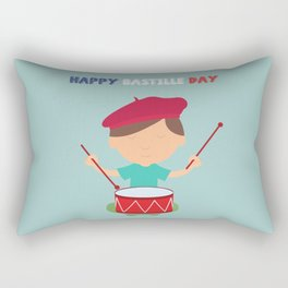 Little Kid and French Drum - Bastille Day Rectangular Pillow