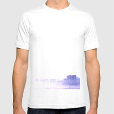 Ghost city White Mens Fitted Tee MEDIUM