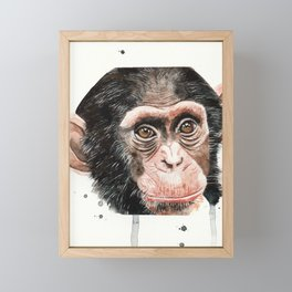 Monkey Framed Mini Art Print